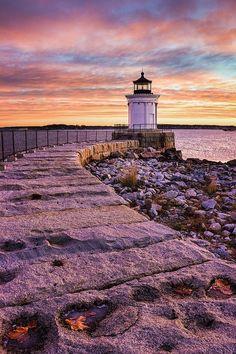 Bug Light Park - South Portland, Maine by Divonsir Borges