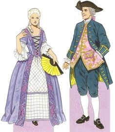 PD274 Man and woman in 1770 by Tom Tierney