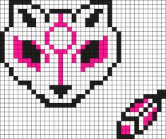 Feline Cat And Feather Perler Bead Pattern / Bead Sprite
