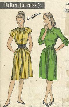 Du Barry 6181 Vintage 40s Sewing Pattern // by studioGpatterns