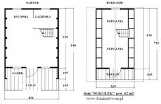 pow. 62 m2 Floor Plans, Frames, Houses, Alpine House, Country Houses, Homes, Frame, House, Computer Case
