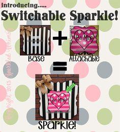 Switchable Sparkle: BASE Quatrefoil by SparkledWhimsy on Etsy