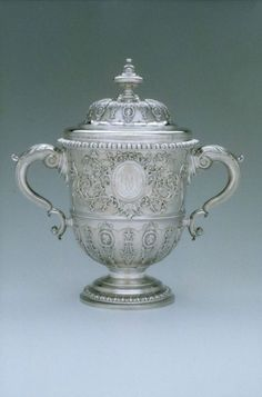 Two-handled Silver Cup and Cover. English Paul Crespin, 1733 or 1734. Paul Crispin was a French Huguenot living in London