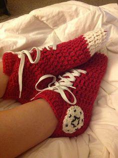 Converse Slipper Socks Free Crochet Pattern