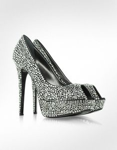 shoes high heels crystals