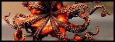 Octopus facebook cover photo~ Halloween Pictures, Cover Photos, Octopus, Wreaths, Facebook, Decor, Halloween Shots, Decoration, Door Wreaths