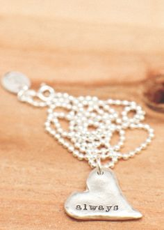 Love the simplicity of stamped jewelry