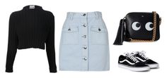 """""""Untitled #886"""" by ariannastradlin ❤ liked on Polyvore featuring MINKPINK, Moschino and Anya Hindmarch"""