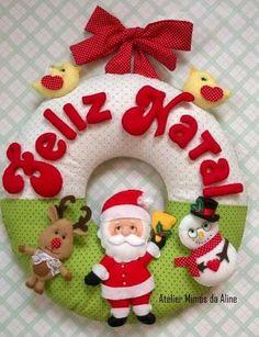 Guirlanda de natal em feltro; felt christmas