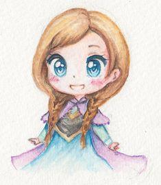 Anna dessinée et coloriés au crayon(s)