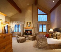 ** Cozy Master Bedroom with Majestic Fireplace
