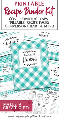 Make recipe organization easy-peasy with this digital recipe binder kit! Great Gift for Cooks or Bridal Shower Gift | Recipe Book DIY | DIY Recipe Binder | Homemade Gift | Mother's Day Gift | Digital Recipe Cards | Kitchen Gifts | Recipe Binder Kit | Digital Recipe Cards | Kitchen Organization | Printable Recipe Cards | Kitchen Conversion Chart | Recipe Storage Organization | Recipe Binder Printables | Printable Recipes | Easy Recipes | DIY Recipe Storage | #recipestorage #recipes Recipe Organization, Kitchen Organization, Storage Organization, Page Dividers, Kitchen Conversion, Printable Recipe Cards, Recipe Binders, Diy Recipe, Gifts For Cooks