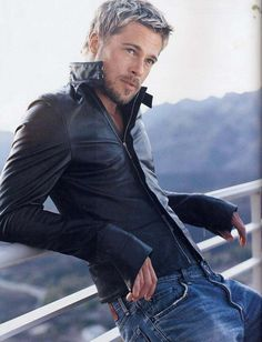 leather and Brad Pitt..now that's hard to turn down