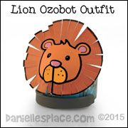 Lion Ozobot Printable Pattern from www.daniellesplace.com