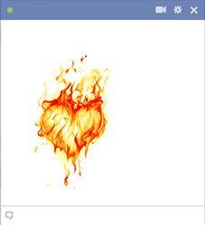 Você esteve queimando por alguém?  Publicar este coração ardente em sua linha do tempo Facebook para dizer-lhes como você sente sobre eles.