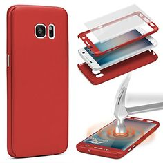 Urcover® 360 Grad PC 2 in 1 Hülle   Samsung Galaxy S7 , rot red 8,90€
