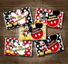 INSTANT DOWNLOAD Mickey Mouse Mini Candy by MyCelebrationShoppe, $3.50