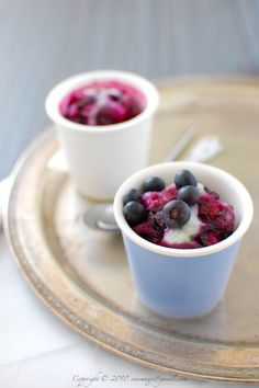 Coconut and Blueberry Steam Cake