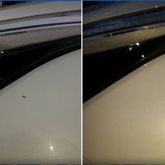 """""""My husband had recently noticed a large stone chip on his front left wing on his new Kia cee'd GT and bought a Chipex kit to try and fix it. He was worried it might not look too great as the chip was so big and all the way through to the bare metal however he was so delighted with the results. It looks great as I'm sure you'll agree. Highly recommended."""" Review/photos - Elizabeth Donaldson www.chipex.co.uk #chipex #chipextouchupkit #painttouchup #paintbooth #spraybooth #paintjob #carcare… Paint Booth, Stone Chips, Touch Up Paint, Left Wing, Before And After Pictures, How To Find Out, Husband, Kit, Metal"""