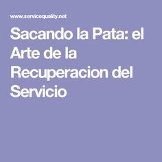 Sacando la Pata: el Arte de la Recuperacion del Servicio
