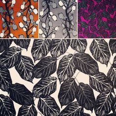 Working on some new textile pattern designs today, my favourite part of the process ❤️ #floralpatterns #textiledesign
