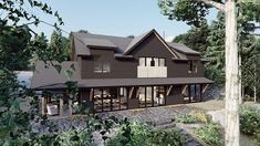 Outside view of our upcoming Lake Rosseau project. Ontario, The Outsiders, Construction, Cottage, Cabin, Architecture, House Styles, Photos, Instagram