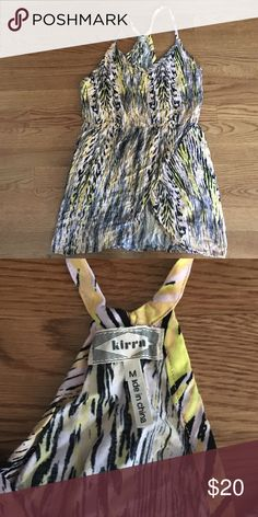 Really cute beach vibe dress Scallop bottom, racer back dress. Loved wearing this with a cute pair of sandals. Great laid back beach dress Kirra Dresses