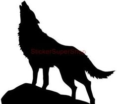Wolf Silhouette | Howling Wolf Silhouette