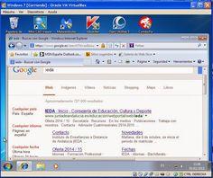 Pantallazo con software anti-malware y navegador Internet Explorer.
