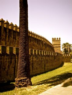 The city walls in La Macarena neighbourhood of Seville - Andalusia, Spain Andalusia Spain, Seville Spain, Granada, Spain And Portugal, Most Beautiful Cities, Romanesque, Spain Travel, Madrid, Places To Go
