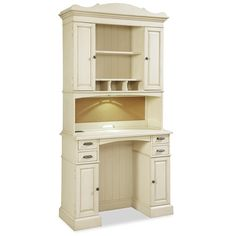 Universal River House Family Organizer Desk with Hutch