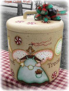 Tratta E PATTERN - zucchero Cookie Angelo - Sweet - progettato dal francese Terrye, dipinta da B. Sharon