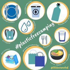 Plastic free camping doesn't need to be hard, these 10 simple tips will get you started. Reusable Cup, Water Bottle, Container, Camping, Plastic, Simple, Tips, Free, Campsite