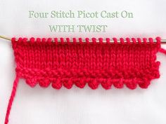 The Pretty Picot Cast On...a Tutorial