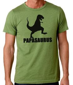 Papasaurus, gifts for guys, dad, grandpa, fathers day gift, papa humor tees, novelty funny TShirt design printed on 52% combed and ringspun cotton, 48% polyeste