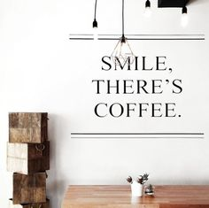 Smile there is coffee // caffeine // cafe // minimal Coffee Is Life, I Love Coffee, Coffee Break, Coffee Lovers, Morning Coffee, Nespresso, Cafe Bio, Pause Café, But First Coffee