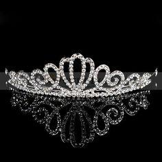 Gorgeous Rhinestone Silver Plated Alloy Wedding Tiara