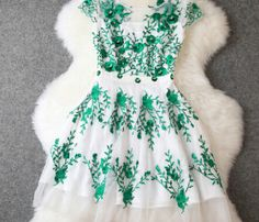 The Plum Flower Dress Embroidery Beading