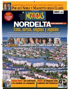 Narco-Delta en la portada de revista Noticias que sale esta noche.