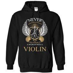 (Tshirt Order) Never Underestimate A Woman With A Violin [Guys Tee, Lady…