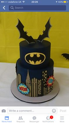 Amazing batman cake