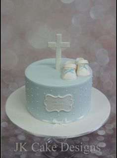Christening cake for a boy More
