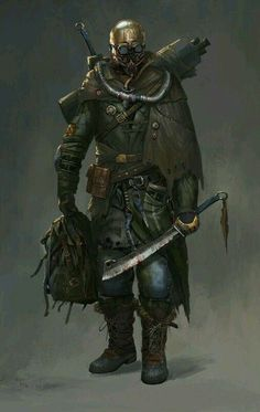 Rogue soldier - by lian zhen wei Post Apocalypse, Apocalypse World, Cthulhu, Character Concept, Character Art, Rpg Star Wars, Chasseur De Primes, Apocalypse Character, Post Apocalyptic Art