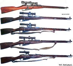 Mosin Nagant sniper series from the earliest work up to the last version of bolt action sniper issued by the Red Army