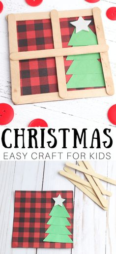 Popsicle Stick Craft Window For Christmas - Christmas Crafts 2nd Grade Christmas Crafts, Popsicle Stick Christmas Crafts, Preschool Christmas Crafts, Homemade Christmas Decorations, Christmas Crafts For Kids To Make, Classroom Crafts, Christmas Activities, Christmas Projects, Kids Christmas