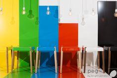 """""""peg"""" stools by Brig"""