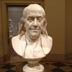 Bust of Franklin at the Philadelphia art museum. It was this or Rocky!