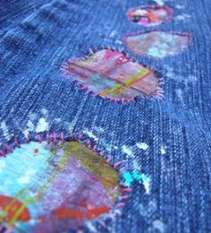 Reverse applique is a happiness.  combining this with  sashiko and  denim looks promising...
