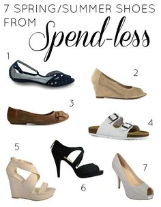 7 shoes for Spring/Summer from Spend-less Shoes