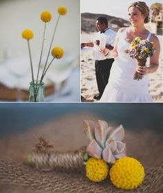 Twine wrapped buttonhole. So cute. Sd. brides have been loving these lately.